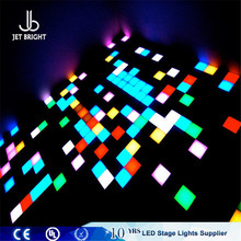 digital controlled color luminous plate and toughened glass hot sales led dance floor