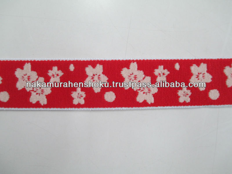 Jacquard woven webbing tape Japanese elastic fabric bands for Fashion accessories
