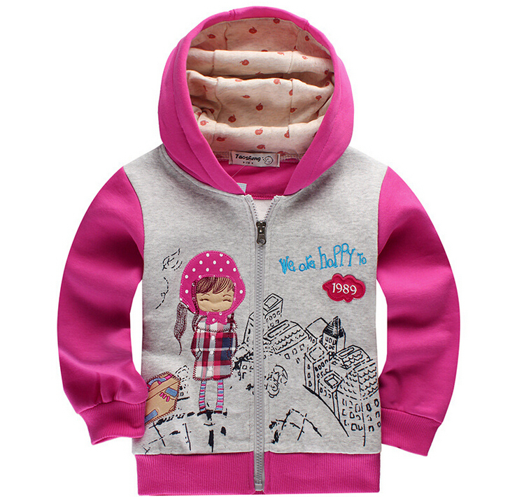 Baby Girls Spring or Autumn outerwear hoodies long-sleeve cotton children sweaters kids jackets & coat girls clothes outerwear