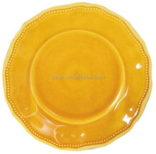 Yellow Melamine Dinner Plate
