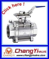Stainless steel 3 pieces 2 way ball valves with internal thread(1000WOG, female ball valve)