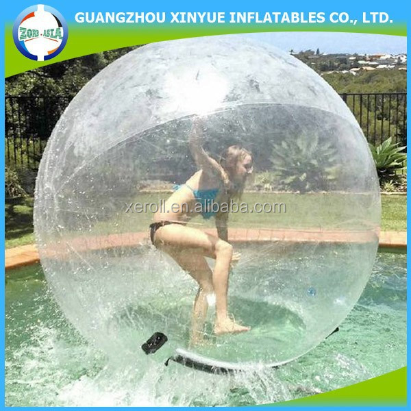 Inflatable zorb water ball, bumper ball zorbing on water