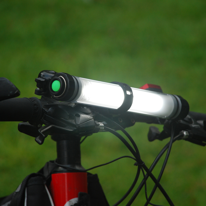 Battery Powered USB Power Bank Function Rechargeable LED Bicycle Light