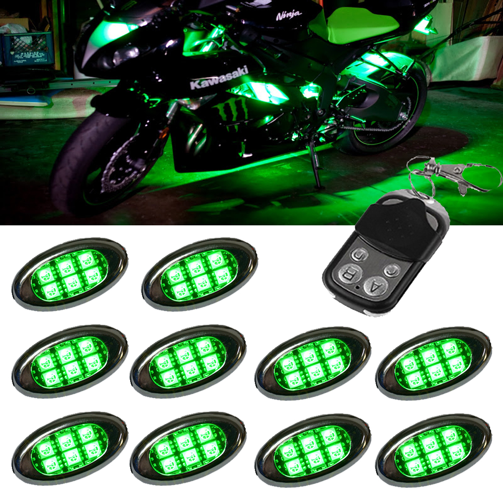 ALL Motorcycle JEEP SUV CAR super Bright Dream FULL Color chasing 5050 Pod LED Lights Module with 4 key Control ler