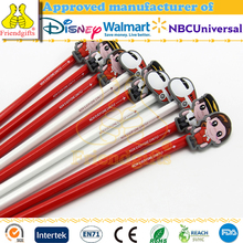 Lovely plastic pencil caps custom soft pvc pencil toppers promotional 3d pencil topper for kids
