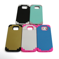 Hybrid Shockproof Heavy Duty Protective Case (Hard Plastic with Soft Silicon) Shockproof / Impact Resistant Bumper Case for S6