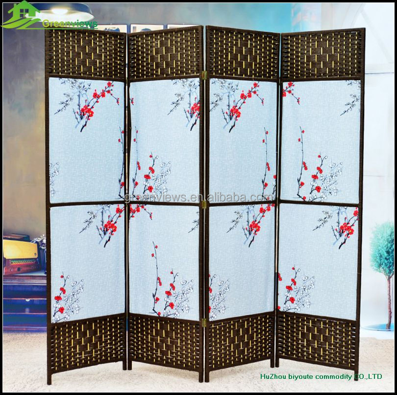 Wooden screen home decoration room dividers home decor wholesale folding screen room partition room paravent GVSD022