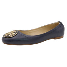2017 manufacturer black soft pu leather elastic ballerina flats shoes for women