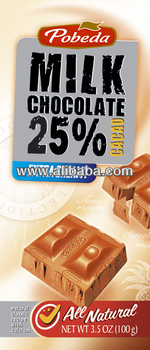 milk chocolate extra creamy 25% cocoa