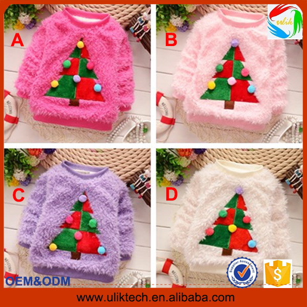 2016 New fashion girl sweater for lovely baby sweater design wholesale wool sweater design for kids (S102)