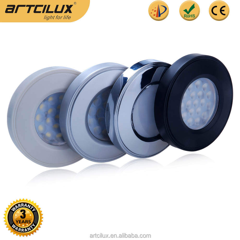 Cheap 12V MINI Plastic puck lights under cabinet, plastic cover under cabinet light
