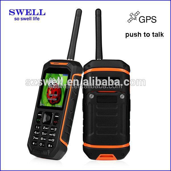 Alibaba China SWELL X6 PTT push to talk Walkie Talkie waterproof rugged best waterproof cell phones uhf vhf phone