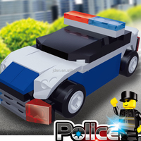 44pcs Bricks Police Car Of Police Squad Series Blocks Building Toy,Baby Toy Car/Plastic Police Mini Car Toy