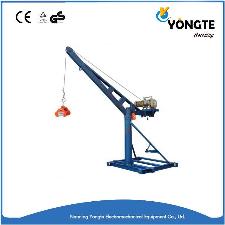 Outdoor mini lift elevators engine crane 0.4t diesel engine hoist