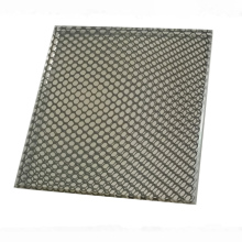 Black Ceramic Fritted Tempered laminated glass, silk screen printing glass with black dots