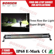 wholesale!! 42inch 3 Row LED Light Bar 12v Work Lamp Offroad Mining Truck Wholesale led car lights
