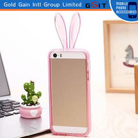 Colorful Cute Bunny Rabbit Ear Case for Samsung For Note 3 N9000 TPU Bumper Case