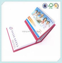 business gift items spiral-bound desk calendar with note pad