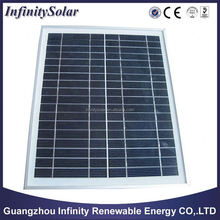 polycrystalline Silicone Thin film Solar Panel, Dimensions of 1245mm x 635mm, 10W