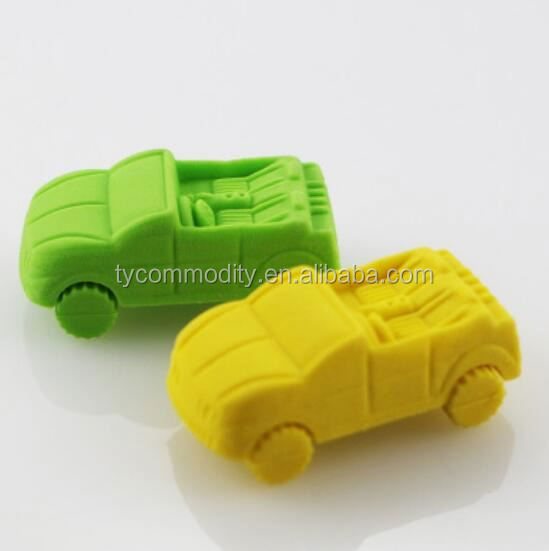 Cute Promotional custom cool car / truck shaped children eraser