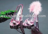 Pink high-heel shoes plastic mobile phone holder