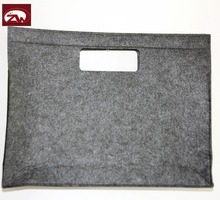 Easy carrying polyester felt 15'' business laptop case
