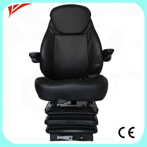 Swivel air suspension folding Loading machine seat with foot plate