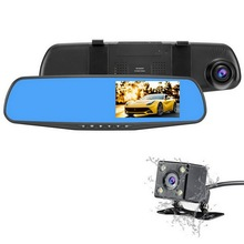 Factory hot sales full hd 1080p dual lens 4.3 inchs car camera with wholesale price