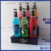 Yageli 3 tier acrylic red wine bottles display stand for 6 bottles wine rack