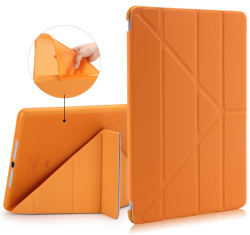 New Crystal rubber cover for iPad 2 3 4 TPU leather case