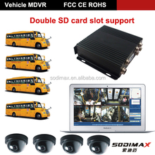 SD Card Voice Conversation Mobile DVR and Car DVR Player/GPS G-sensor Mobile dvr/ free CMS Clients