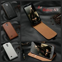 Hot phone accessory product of high quality genuine leather phone flip case cover for samsung galaxy S4 smartphone