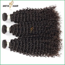 Factory Price!!100% virgin remy Kinky Curl Peruvian Hair weft,tangle and shedding free peruvian human hair .