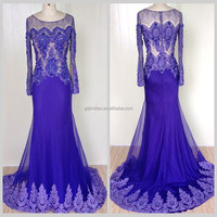 Zuhair murad lace long sleeve purple evening dress western party wear dresses