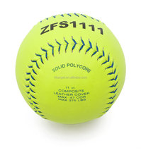 11 inch Fastpitch Composite Leather Softball with Blue Seam