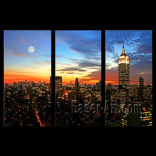 New York City Night View Giclee printing canvas
