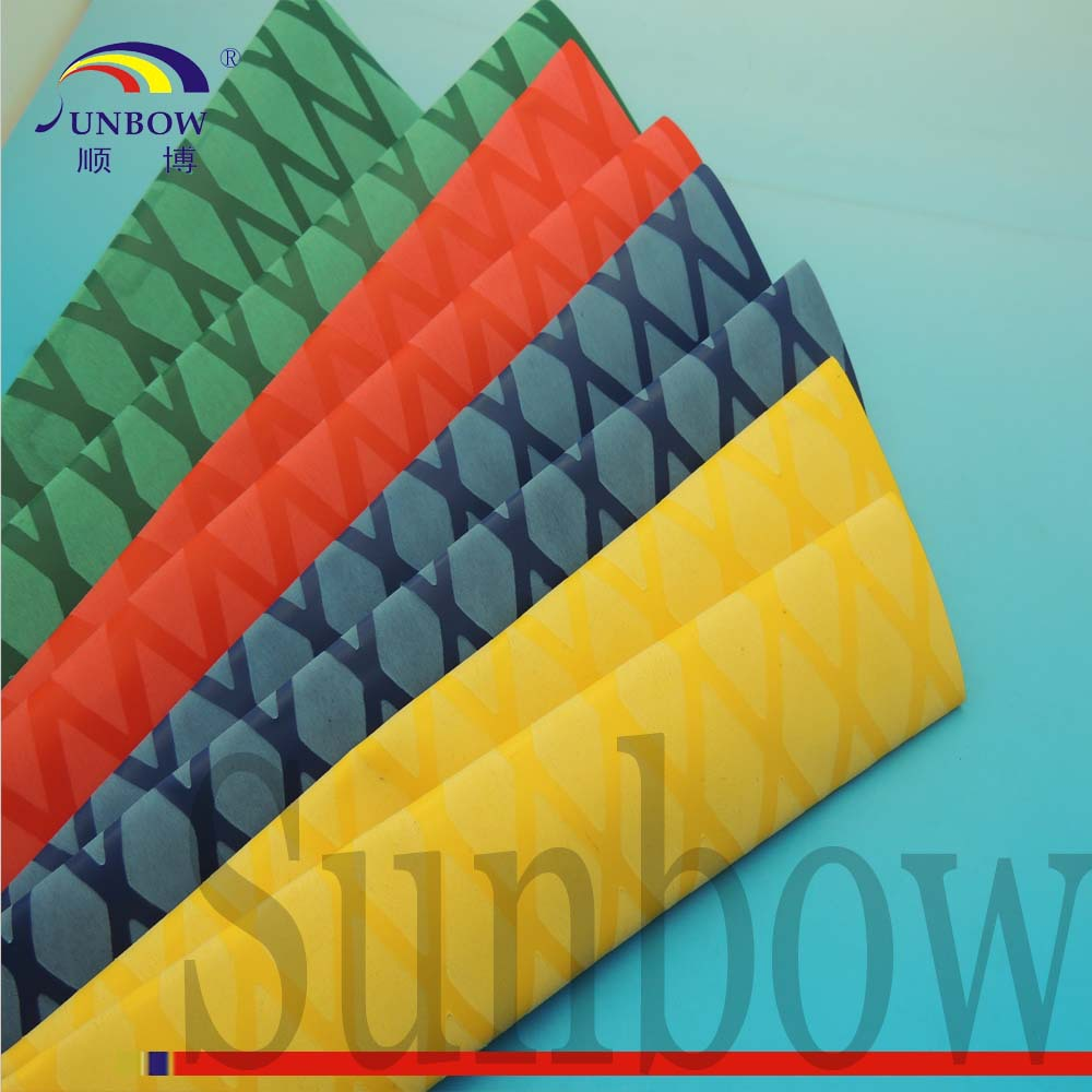 SUNBOW UL High Quality Flexible Flame Retardant Black Red Yellow Green Blue Nonslip Heat Shrink Tubing on Fishing Products