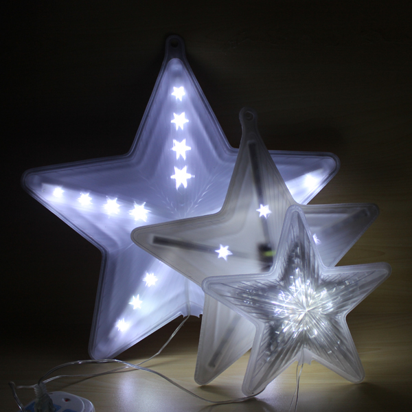 Christmas tree decoration holiday motif led 3d light star for 3d star decoration