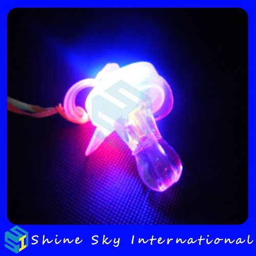 Design Hot Selling Wholesale Led Flashing Pacifier