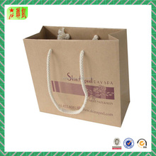 Customized Kraft Color Shopping Paper Bags for Malt Liquors with Logo Printed