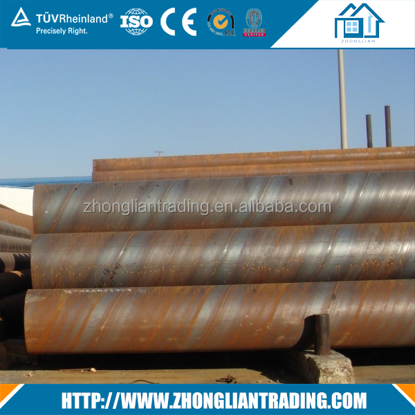 Effect assurance opt thin wall galvanized spiral welded steel pipe in China