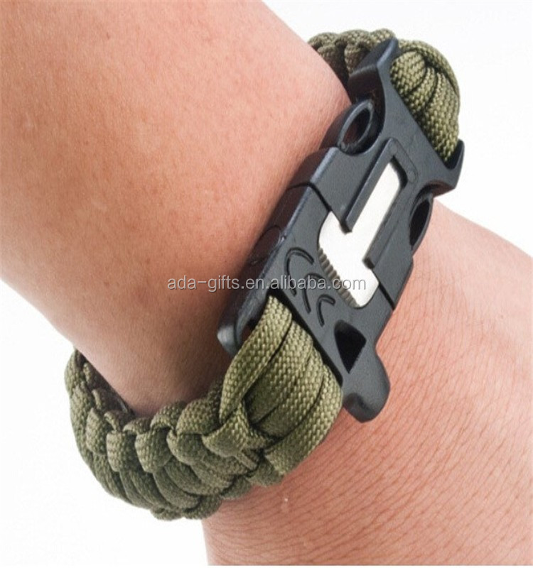 hiking paracord survival bracelet custom paracord survival bracelet with logo