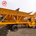 Quality assurance 20T 55kw small mobile concrete batching mixer