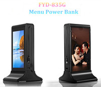 New arrival Anti-Theft Systems restaurant menu stand advertisement power bank 20000 mah
