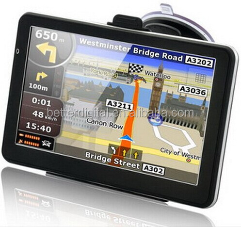 Car gps navigator with 30 languages and free map and CE ROHS certificates
