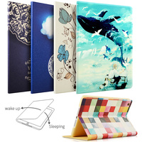 Case For iPad Air Air2 For New iPad 9.7 inch 2017 sky Painting Series with Auto Wake Up and Sleep Function Stand Smart Cover