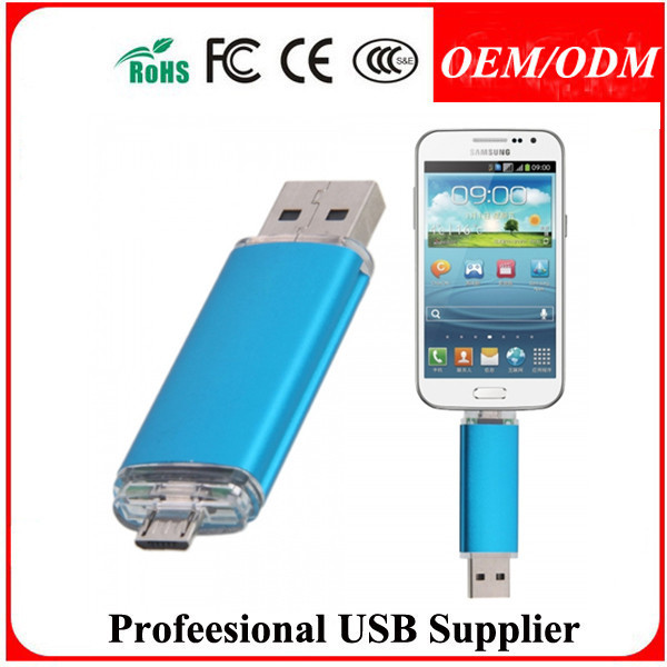 Custom logo swivel mould 8gb Usb flash Drive 2016 OTG Flash Pen Drive For Android Phone cheap promotion gift memory stick16GB