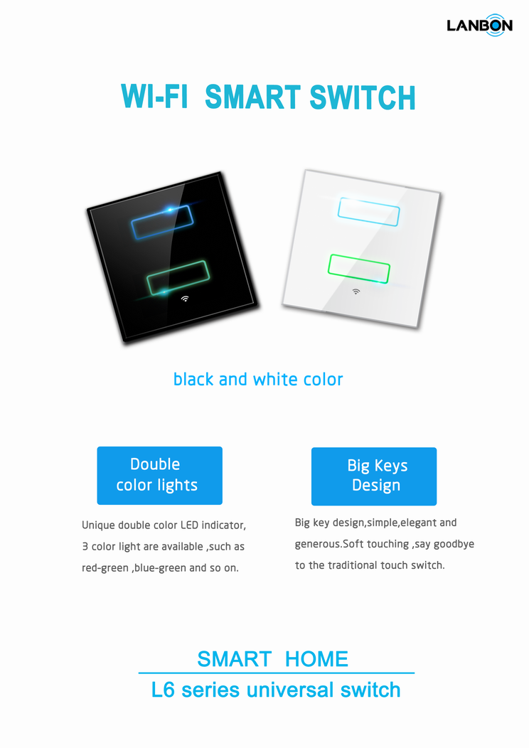 Newest 2016 Hot sale Villa house WIFI switch new design wall switch ...