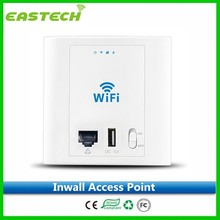 Factory direct sell In Wall Mount Embeded Wifi Wireless POE Access Point Plug AP Wall Panel Hotel wifi AP with POE