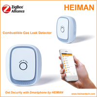 AC110V~235V Zigbee Gas detector with IOS or Android App software